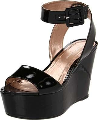 BCBGeneration Women's Lee Ankle-Strap Sandal,Black Patent,5 M US