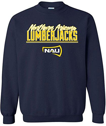 NCAA Northern Arizona Lumberjacks Adult NCAA Script Crewneck Sweatshirt,Small,Navy ()