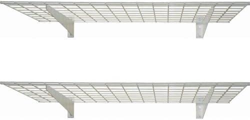 Hyloft 00630 45-Inch by 15-Inch Garage Wall Shelf Storage, White, 2-Pack