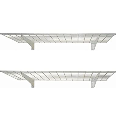 HyLoft 00651 45-Inch by 15-Inch Wall Shelf, Off White, 2-Pack