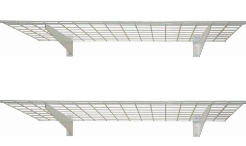 HyLoft 00967 45-Inch by 15-Inch Wall Shelf, Off White, 2-Pack - Wall Mount Shelving Unit