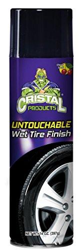 Cristal Products CRI-107-C Tire Shine Untouchable Tire Premuim Dressing Aerosol Gloss Spray for Car Tires, 14 fl. oz. ()