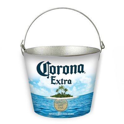 Corona Beer Bucket - Corona Extra Metal Bucket with Bottle Opener