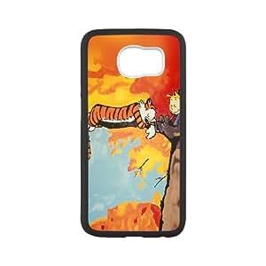 Samsung Galaxy S6 Cell Phone Case Black Calvin And Hobbes Tree Nap Illust Art Bngkd