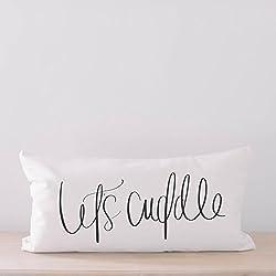 Lumbar Pillow - Let's Cuddle, home decor, wedding gift, engagement present, housewarming gift, cushion cover, throw pillow