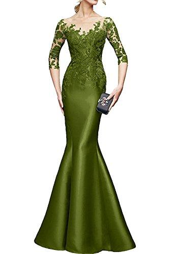 Langarm Braut Spitze Lila Festlichkleider Promkleider Dunkel Gruen La mia Brautmutterkleider Damen Olive Abendkleider Etuikleider X15qxYw