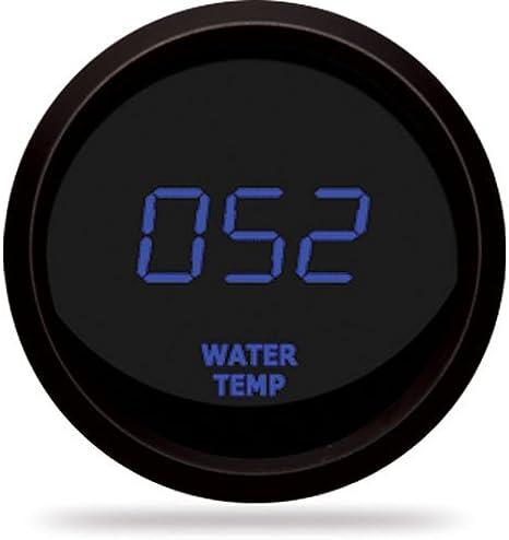 WonVon Digital LED Water Temp Gauge,Car 2 52mm Red Digital LED Electronic Water Temp Temperature Gauge Fahrenheit F with Sensor