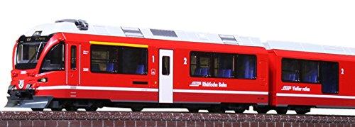 (KATO N gauge Rhaetian Railway Bernina Express Basic 5-car set 10-1318 model of railway passenger)