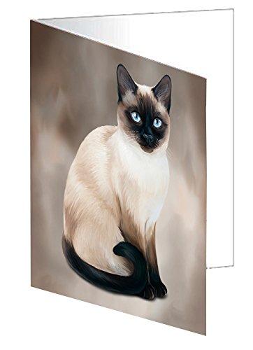 Thai Siamese Cat Greeting Card D061 (20)