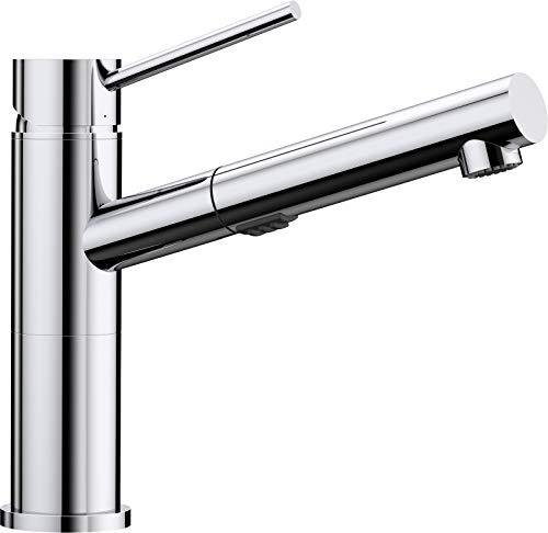 Alta Alta Kitchen Faucet - Blanco Alta S Compact Vario Metallic Surface Kitchen Mixer Tap, Chrome, High-Pressure, silver, 518407