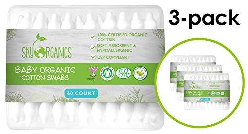 Baby Cotton Swabs Sky Organics product image