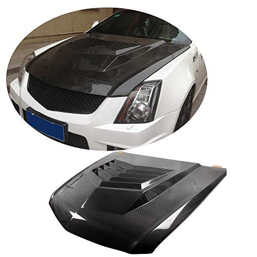 illac CTS CTS-V Coupe 2011 2012 2013 Factory CNC Moulding Carbon Fiber Top Fit Front Engine Hood Cover ()