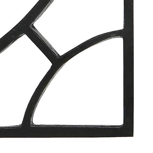 Set of 4 Shelf Brackets 6 1/2 X 6 3/4 Inches Heavy Duty Iron L Brackets with Black Powder Coat Finish for Shelves Corner Bracket for Wall Shelves DIY Kitchen Shelving Right Angle Braces