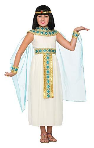 Forum Novelties Girls Queen Cleopatra Costume, White, Medium (Renewed)]()