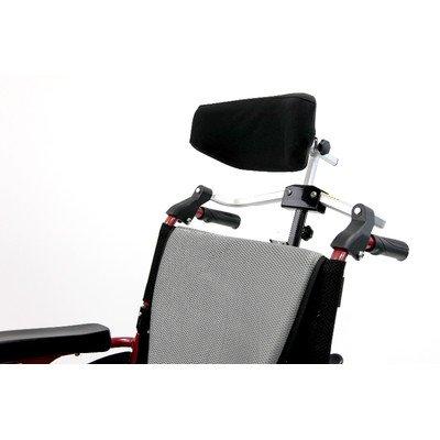 Karman Universal Folding Headrest for Wheelchair, Arctic Silver, Medium, Seat Size/Width 16-18 Inch & 7/8 Inch Handle Frame (Wheel Silver 22')