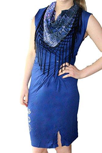 Desigual - Robe - Femme bleu bleu XL