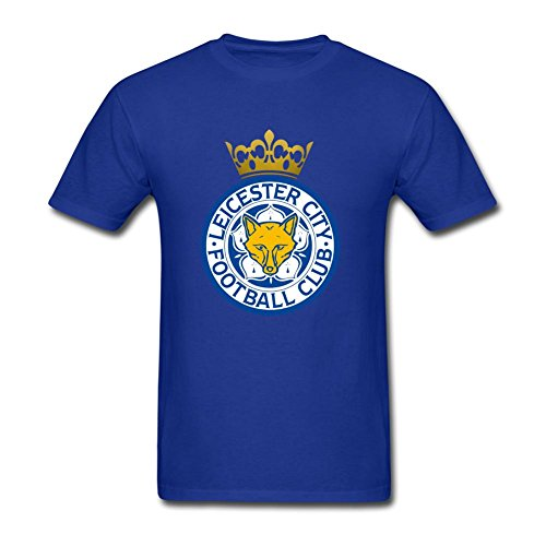 (Men's T-Shirts 2016 England Premier League Soccer Champion Leicester City)