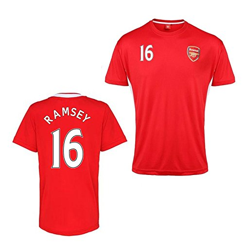 Official Arsenal Training T-Shirt (Red) (Ramsey 16) B07CKHQCDFRed Small Adults
