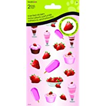 Sandylion Strawberry Cake and Ice Cream Dimensional Stickers for Scrapbooking