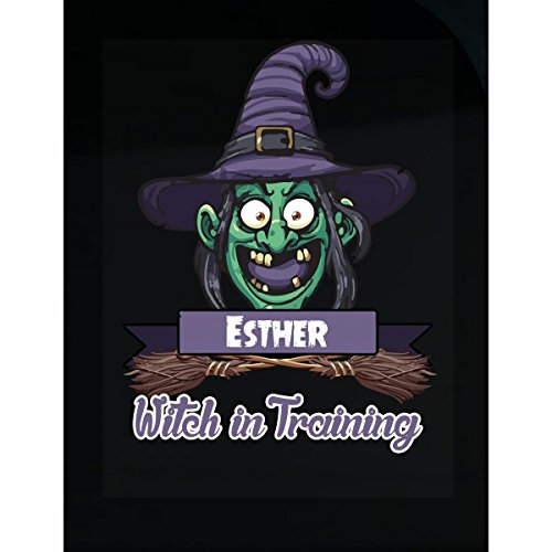 (Halloween Costume T Shirt For Kids Esther Witch In Training Funny Halloween Gift -)