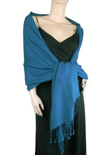 Pure Cashmere Pashmina Wrap 2 Ply Moroccan Blue