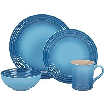 Le Creuset PGWSV16-036M Stoneware Dinnerware Set, 16 Piece, Marine