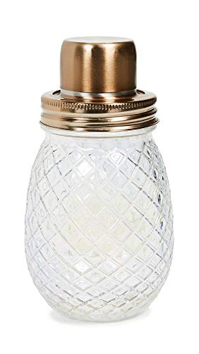 Slant Collections Women's Cocktail Shaker, Irridescent, Clear, One Size