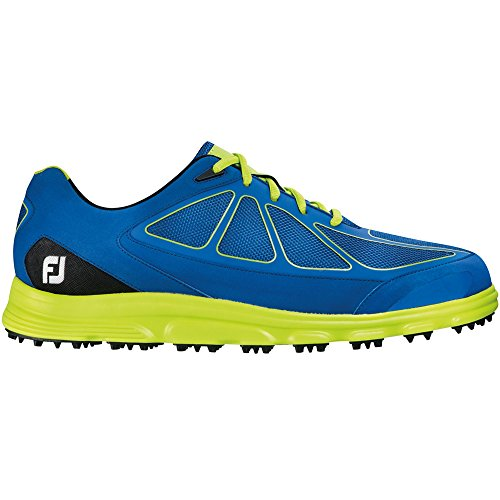 FootJoy Men's SuperLites Spikeless Golf Shoes, Close-out, Dark Blue/Lime, 58002 (9 D(M) US) (Footjoy Golf Shoes Spikeless)