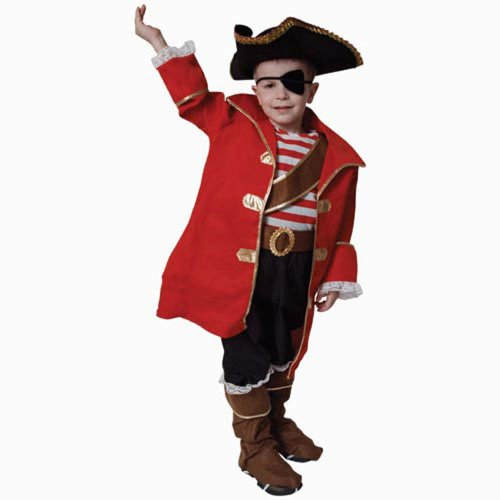 Deluxe Pirate Captain Costume Set - Small 4-6 for $<!--$32.00-->