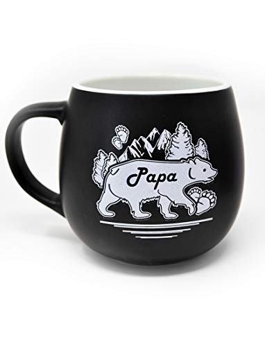 LeRage Papa Bear Coffe Mug Gift For Dad 14oz Jumbo Cup for Men Fathers Gift