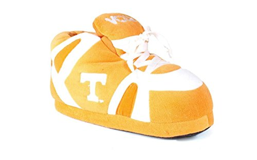 TEN01-5 - Tennessee Volunteers - XX Large - Happy Feet Men's and Womens NCAA Slippers - Comfy Embroidered Slippers