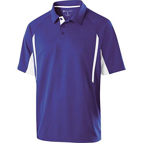 Purple Fit Shirt Stripe - Holloway Sportswear Avenger Short-Sleeve Polo Shirt. 222530 Purple / White 3XL