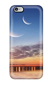 Protective Tpu Case With Fashion Design For Iphone 6 Plus (three Moons)