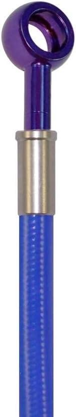 Blue Hose /& Stainless Banjos Pro Braking PBK2323-BLU-SIL Front//Rear Braided Brake Line
