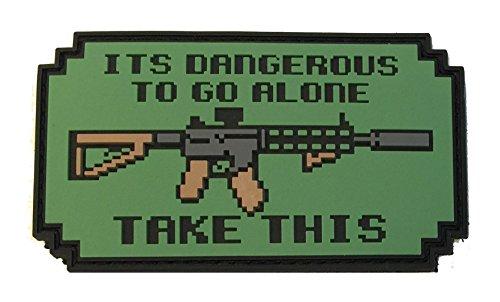 patriot patch co it s dangerous to go alone patch m4 ar version