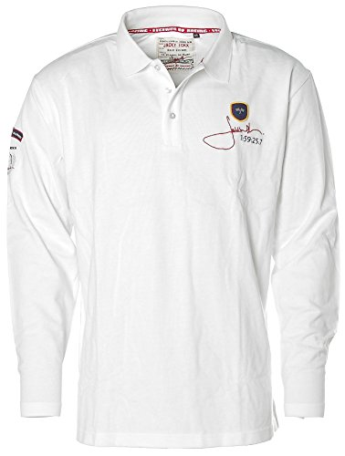 Jacky Ickx - Camiseta de manga larga - Polo - Manga Larga - para hombre Blanco Óptico