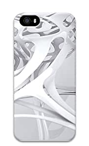 iPhone 5 5S Case 3D white linear 3 3D Custom iPhone 5 5S Case Cover