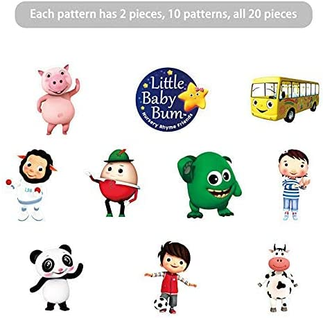 20 Decorations for Little Baby Bum Cupcake Toppers Birthday Party Supplies Decor