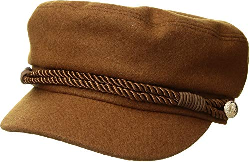 Hat Attack Women's Emmy Cadet Cap w/Interchangeable Rope Band Tobacco One Size