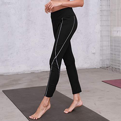 Mujer Yoga Pantalón Pantalones Estilo de Ocio Cintura de Alta Negro Impreso de de Cintura Fitness Reflexivo ASHOP Pantalones Leggings Cordón Vaqueros Boho Jeans dxxqU