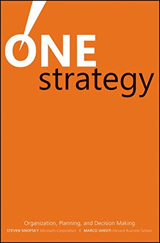 One Strategy: Organization, Planning, and Decision Making