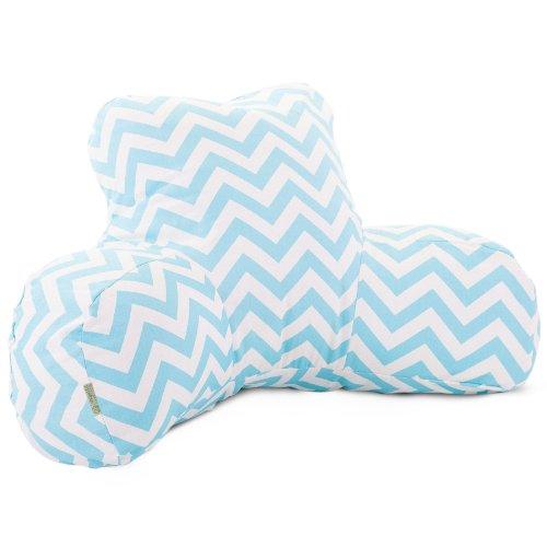 Majestic Home Goods Chevron Reading Pillow, Blue