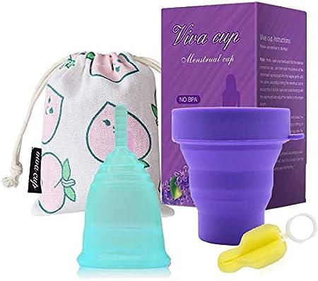 Jszzz Copa Menstrual Set - Copa Menstrual Hecho de Silicona ...