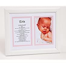 Baby's First Name - Origin, Meaning, Personality Traits - Framed White Matting