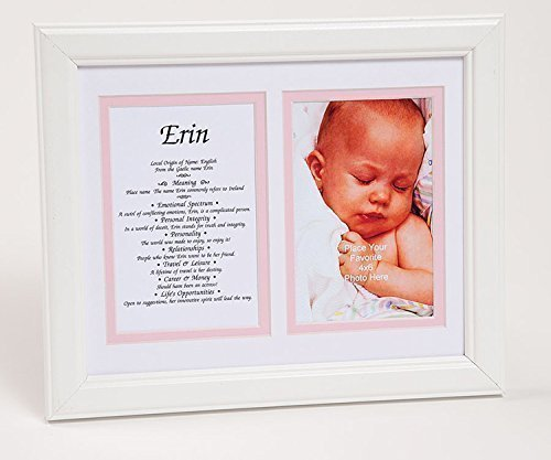 Baby's First Name - Origin, Meaning, Personality Traits - Framed White Matting from Peter Townsend's Irish Collection