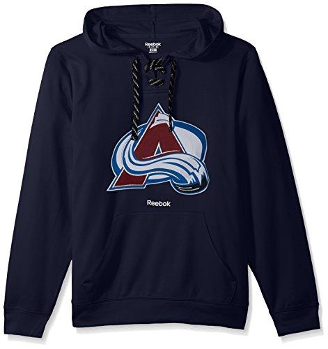NHL Colorado Avalanche Adult Men Team Crest Performance Fleece Hockey Hood,Small,Navy