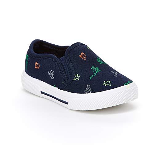 carter's Boys' Damon Casual Slip-on Sneaker Skate Shoe, Print, 8 M US Toddler