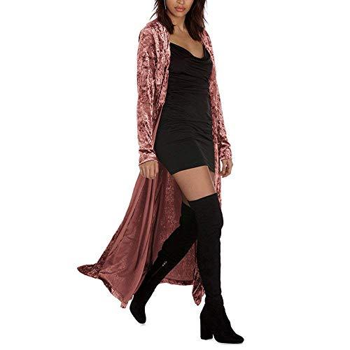 Cardigan Hiver Automne Femme Longues Velours Outerwear w64ZqT