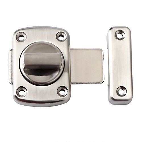 RilexAwhile Solid Rotate Bolt Latch Safety Gate Latches - Lock For Home Door,Hotel Door,Cabinet, Drawer, Furniture by RilexAwhile
