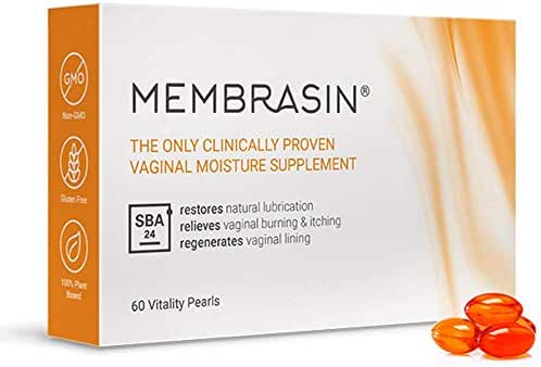 Membrasin® for Vaginal Dryness - 100% Natural Moisture Supplement - Clinically Proven to Restore Natural Lubrication and Relieve Dry Vagina Burning and Itching - Safe Lubricant for Women and Menopause